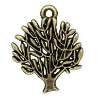 Colgante charm bronce arbol de la vida 20x17 mm