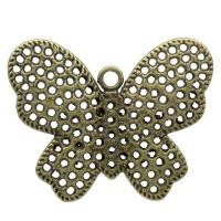 Colgante charm bronce  mariposa 40x32 mm