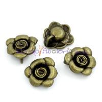 Colgante charm bronce flor abierta 14x13 mm