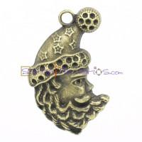 Colgante charm bronce papa noel 45x27 mm