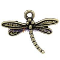 Colgante charm bronce libelula 19x15 mm