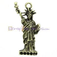 Colgante charm bronce Estatua de la libertad 15x40 mm