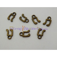 Colgante charm bronce mini nota musical 12x8 mm