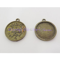 Colgante charm bronce horoscopo SAGITARIO .30X27 mm.