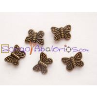 Entrepieza mariposa bronce 15x11 mm ( 5 uds)