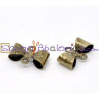 Entrepieza bronce lazito mini laton 12x8 mm ( 10 uds)