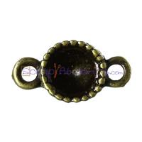 Entrepieza conectora BRONCE con hueco strass 6 mm (5 uds)