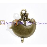 Conector pajarito bronce 22x18 mm, taladros 1.5 mm