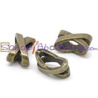 Entrepieza bronce X pasahilos taladro oval 10x7 mm