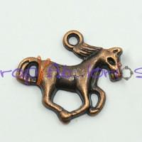 Colgante charm cobre caballo galope  15x20 mm