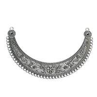 Accesorio collar conector plata tibetana Boho Chic 11.2x7 cm