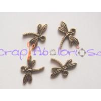 Colgante charm libelula dorada 15x18 mm