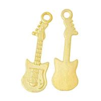 Colgante charm dorado guitarra electrica 32x10 mm