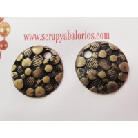 Colgante moneda diseño italiano  bronce 19 mm