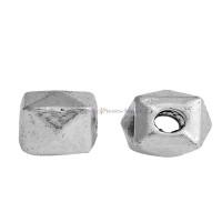 Entrepieza poliedro 5x5 mm, taladro 1.8 mm - 10 pcs
