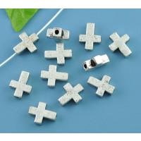 Entrepieza Cruz metal 16x12 mm, tal 2 mm - 5 pcs