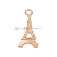 Colgante charm oro rosa Torre Eiffel 24x9 mm