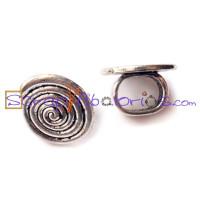 Pasador espiral plata tibetana para regaliz 18x11 mm