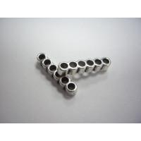 Entrepieza separador de 6 hilos plata tibetana 27x5 mm, int 3 mm