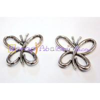 Entrepieza mariposa  plata tibetana 28x27 mm