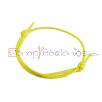 Pulsera algodon encerado 1.5mm amarillo ajustable 40-70 mm