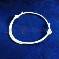Pulsera algodon encerado 1.5mm blanco ajustable 40-70 mm