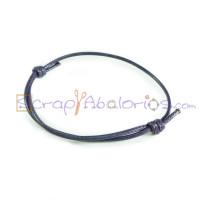Pulsera algodon encerado 1.5mm morado ajustable 40-70 mm