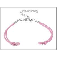 Base pulsera algodón rosa con cierre medida 14.3 cm
