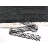 Puntilla negra Mod. 7, ancho 22 mm ( 1 metro)