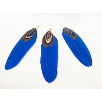 Pluma doble con capuchon  azul marino 70 mm