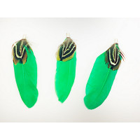 Pluma doble con capuchon color verde mm