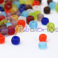 Rocalla cristal, 2 mm colores mates (25 gramos)