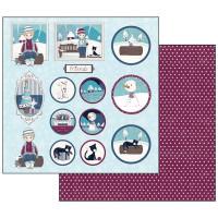 Papel scrapbooking 31.2x30.3 cm- Thomas & Friends Navidad SBB485