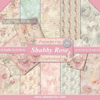 Papel scrapbooking Stamperia 30x30 cm- Shabby Rose- Set 10