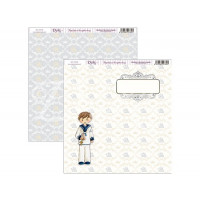 "Papel Scrapbooking doble cara 12x 12"""" - Niño comunion"
