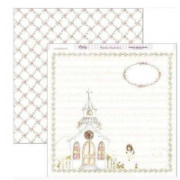 "Papel Scrapbooking doble cara 12x 12"""" - Comunion SCP-102"