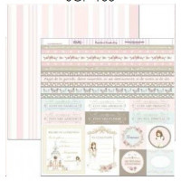 "Papel Scrapbooking doble cara 12x 12"""" - Comunion SCP-106"