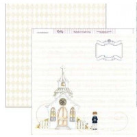 "Papel Scrapbooking doble cara 12x 12"""" - Comunion SCP-108"