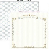 "Papel Scrapbooking doble cara 12x 12"""" - Comunion SCP-109"