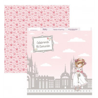 "Papel Scrapbooking doble cara 12x 12"""" - Comunion SCP-142"
