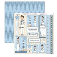 Papel Scrap doble cara 30x30 cm - Comunion niño - SCP-245 ( Dayka 2018)