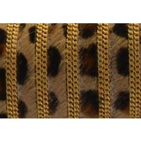 Tira de leopardino 10 mm con cadena dorada ( 20 cm)
