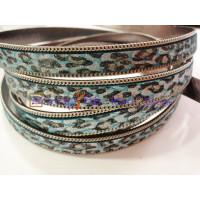 Tira de serpiente metalizado azules 13 mm con cadena ( 20 cm)