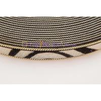 Tira de cebra 15 mm con cadena dorada ( 20 cm)
