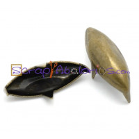 Tachuela pincho bronce ovalada 14x5 mm ( 10 uds)