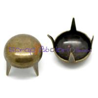 Tachuela pincho bronce redonda lisa 8.5 mm ( 10 uds)