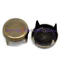 Tachuela pincho bronce redonda lisa 9 mm ( 10 uds)
