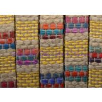 Tireta de lino trenzado amarillo 10x2 mm Alta calidad (20 cm)