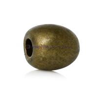 Terminal  bronce bola ciega plata tibetana,6 mm,int 2 mm(10 uds)