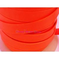 Cuero plano de 13 mm. Naranja Flúor. (20 cm)